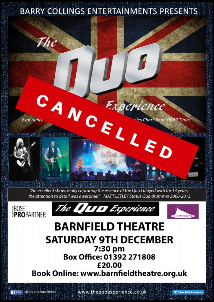 The Quo Experience-CANCELLED
